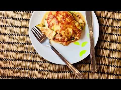 Gluten free lasagna with vegetable sheets and Hempseeds (Vegetarian)