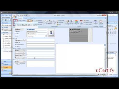 ms-outlook-2007-how-to-edit-change-and-create-contact-from-an-electronic-business-card-demo