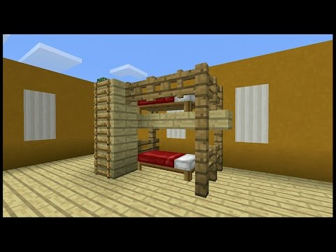 👉Minecraft pe: How to make a Bunk Bed