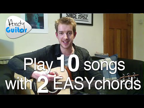 Play TEN guitar songs with two EASY chords | Beginners first guitar lesson