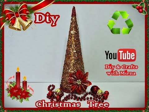 Diy. Christmas ornaments . ( Christmas Tree ) Diy & Crafts with Mirna
