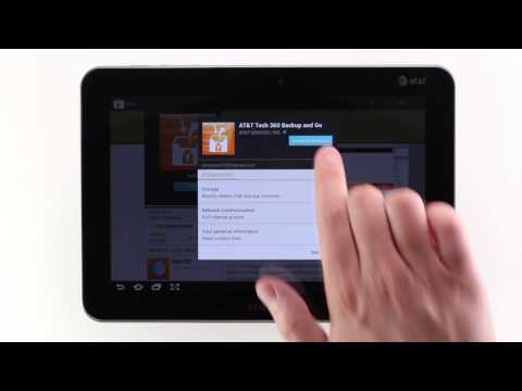 Downloading and Managing Apps on a Galaxy Tab 8.9   AT&T Wireless