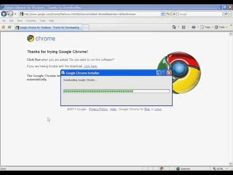 Installing Google Chrome on Windows XP.avi
