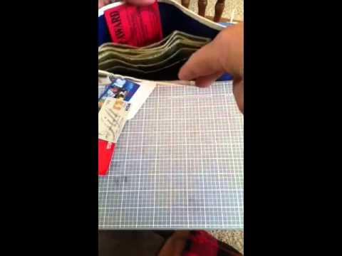 Duct tape tri-fold wallet: apple sticker