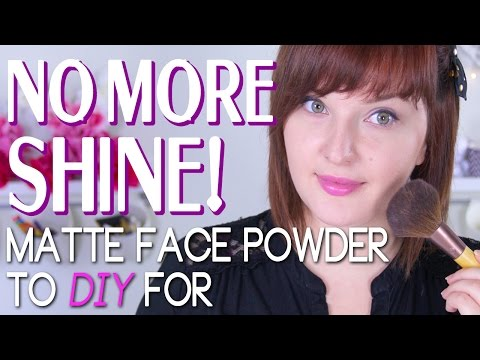 DIY Matte Face Powder For Oily Skin