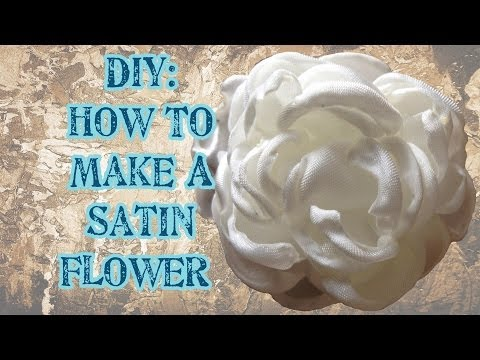 DIY: How to make a Satin Flower (No Die Needed) - Craftbrulee