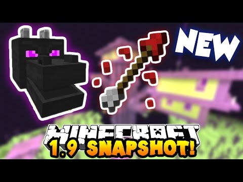 Minecraft 1.9 Snapshot - NEW ENDER DRAGON BOSS FIGHT, ARROWS & END DUNGEONS!