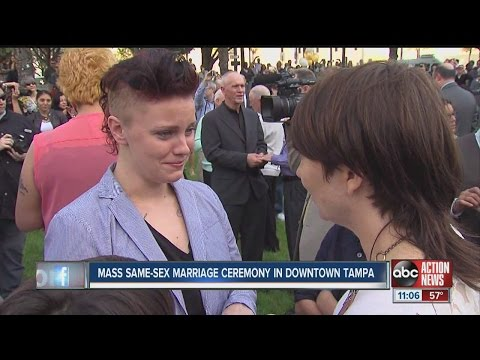 Same-sex marriages break Tampa Bay records