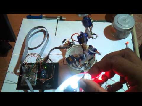 Robot Arm Control by Microcontroller C,C++