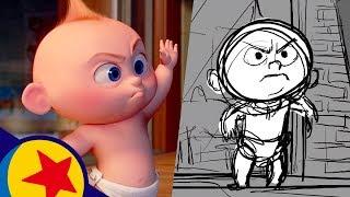 Jack-Jack vs. Racoon from Incredibles 2   Pixar Side by Side