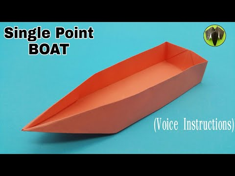 Single Point Floating Boat with Voice Instructions - DIY | Origami | Tutorial by Paper Folds - 799