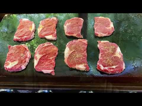 Blackstone Griddle - Diner Style Seared Ribeye Steaks - Everyday BBQ