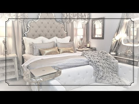 Wayfair Headboard ☆How to make your bed look expensive☆Glam bedroom Master Bedroom affordable luxury