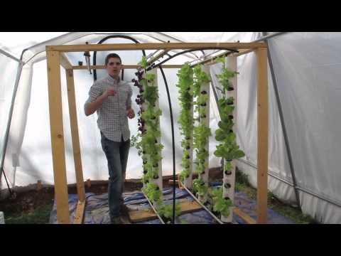 Aquaponics System - Solar Powered Vertical Tower www.agrowponics.com