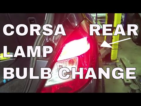 Corsa D Rear Lamp Removal And How To Change A Bulb on a Corsa 2006 2010