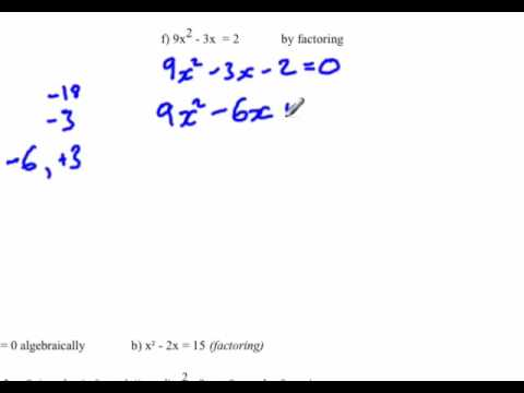 Quadratic equation : Find x-intercepts by factoring