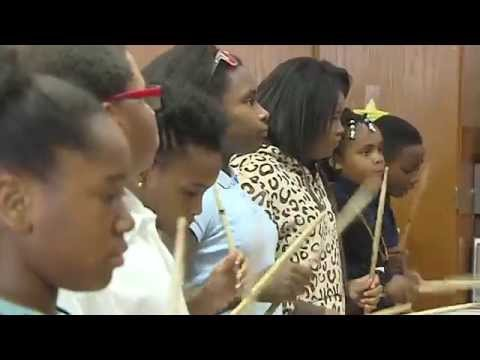 Drumline inspires Delaware elementary school students