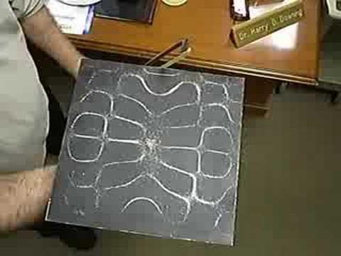 Salt on a Flat Aluminum Plate - Modes of Vibration
