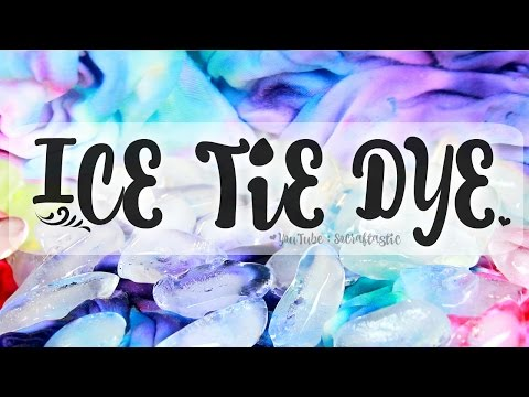 TIE DYE with ICE -  Easy Tie-Dye How To | SoCraftastic