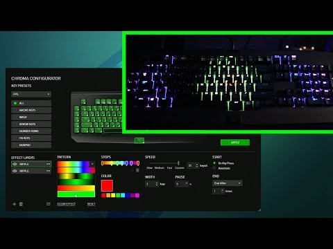 New Razer Chroma Keyboard Configurator for Synapse 2.0 - Colors & Effects