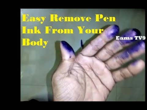 Easy Remove Pen Ink From Body