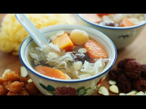 Snow Fungus Papaya Soup - 木瓜雪耳糖水