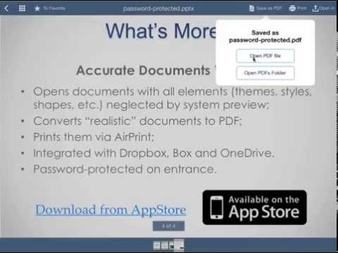 How to Convert Powerpoint Presentations to PDF on iPad