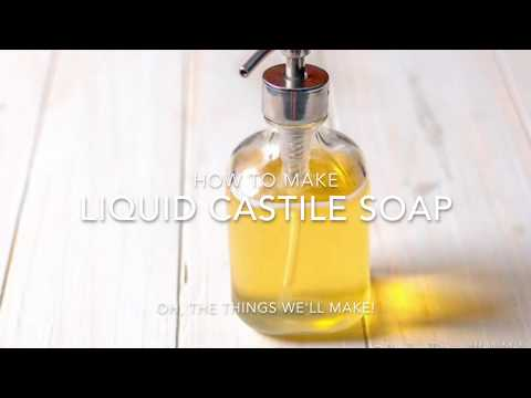 How to Make a Multipurpose Liquid Castile Soap: Dr. Bronner's Copycat Recipe