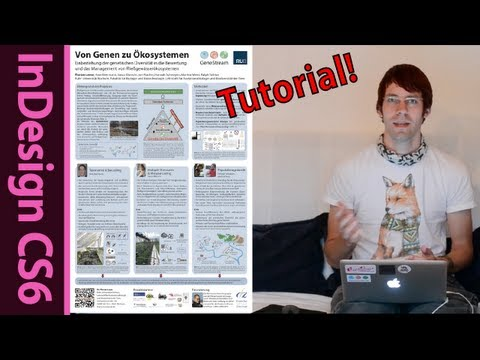 InDesign science poster tutorial: Layout, Text, Printing (Final Part 6)