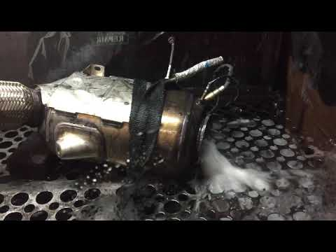 Big Bmw diesel particulate filter cleaned by DPF repair and cleaning Hull