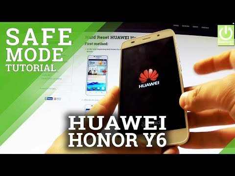 How to Enter Safe Mode in HUAWEI Honor Y6 SCL-L01  - Safe Mode in HUAWEI