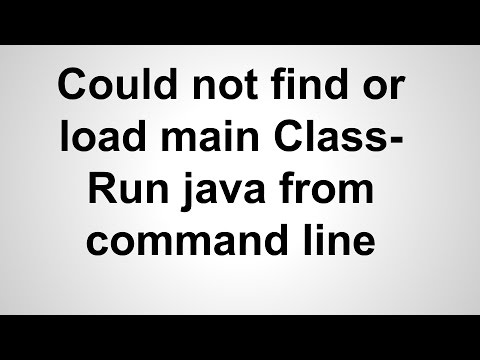 Could not find or load main class- How To Run Java from Command Line Mac