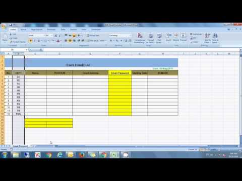 How to freeze both ROW & Column in excel