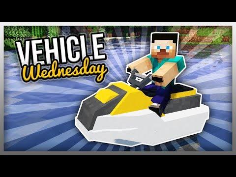 ✔️ Working JET SKI in Minecraft! (Vehicle Wednesday)