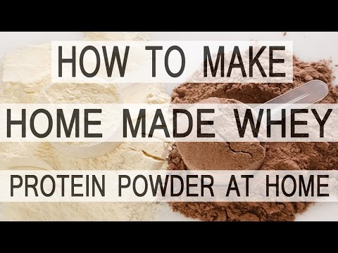 how to make whey protein powder at home {ENGLISH}