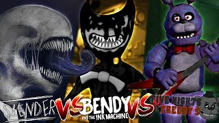 Minecraft BENDY AND THE INK MACHINE VS FNAF BONNIE VS SLENDERMAN!! - WHO IS THE SCARIEST????