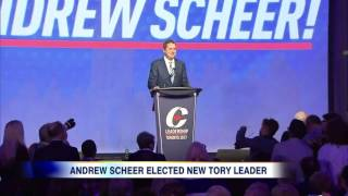 Video: Andrew Scheer elected as new Tory Leader