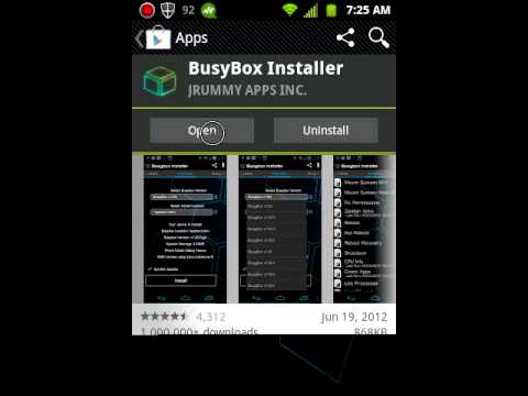 How to install busybox for the lg optimus elite
