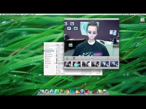 How to import pictures from photo booth to iphoto.mov