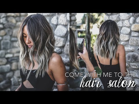 Come With Me To The Hair Salon // How I Cut + Color My Hair