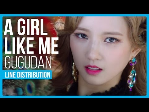 Gugudan - A Girl Like Me (나 같은 애) Line Distribution (Color Coded)