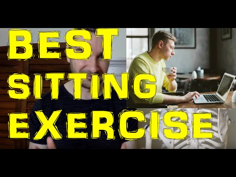 #1 Office Workout Exercise To Do While Sitting In A Desk Or Chair / GREAT Bad Posture Corrector!