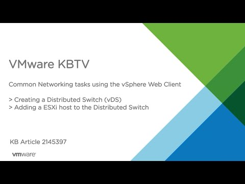 Common Networking Tasks in the vSphere Web Client  - Part 2