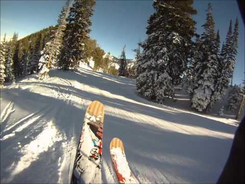 GoPro HD Hero helmet cam; different skiing views