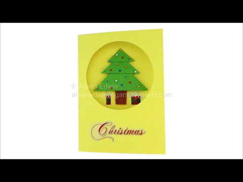 Origami Christmas Tree Card Video Tutorial *HD*
