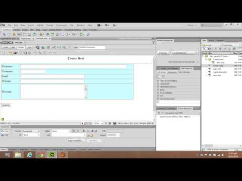 How to create login page using PHP in Dreamweaver CS6