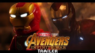 Avengers Infinity War Trailer in LEGO Side by Side Comparison