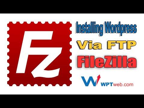 Installing Wordpress Manually - Installing Wordpress Via FTP FileZilla - WordPress Tutorial 6