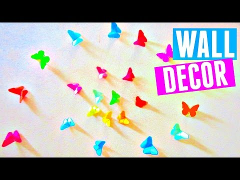 DIY Rainbow Butterfly Room Decor | How to Make an Origami Butterfly