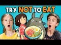Try Not To Eat Challenge Anime Food Teens College Kids Vs Food